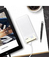 Внешний аккумулятор Power bank Baseus Quick Charge 3.0 с ЖК дисплеем 10000 mah White, фото 7