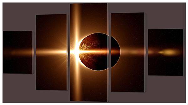 Модульная картина Затмение. Космос