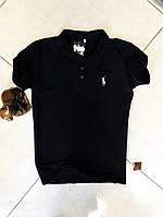 Мужская  футболка поло черная