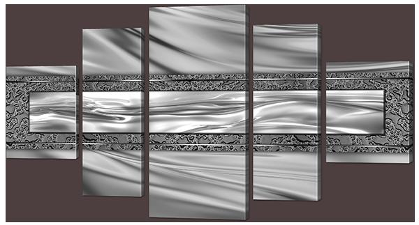 Модульная картина Металлический узор