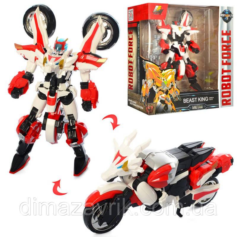 Трансформер J8038Dметалл, робот+мотоцикл (дракон)25 см