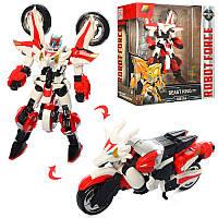 Трансформер J8038Dметалл, робот+мотоцикл (дракон)25 см, фото 1