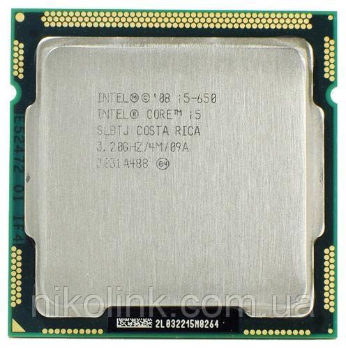 Процессор Intel Core i5-650 3.2GHz/2.5GT/s/4MB (BX80616I5650) s1156 Tray комиссионный товар