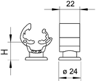 5207762 Универсальный держатель проводников Rd 8 -10, медного цвета, 177 55 CU OBO bettermann, фото 3