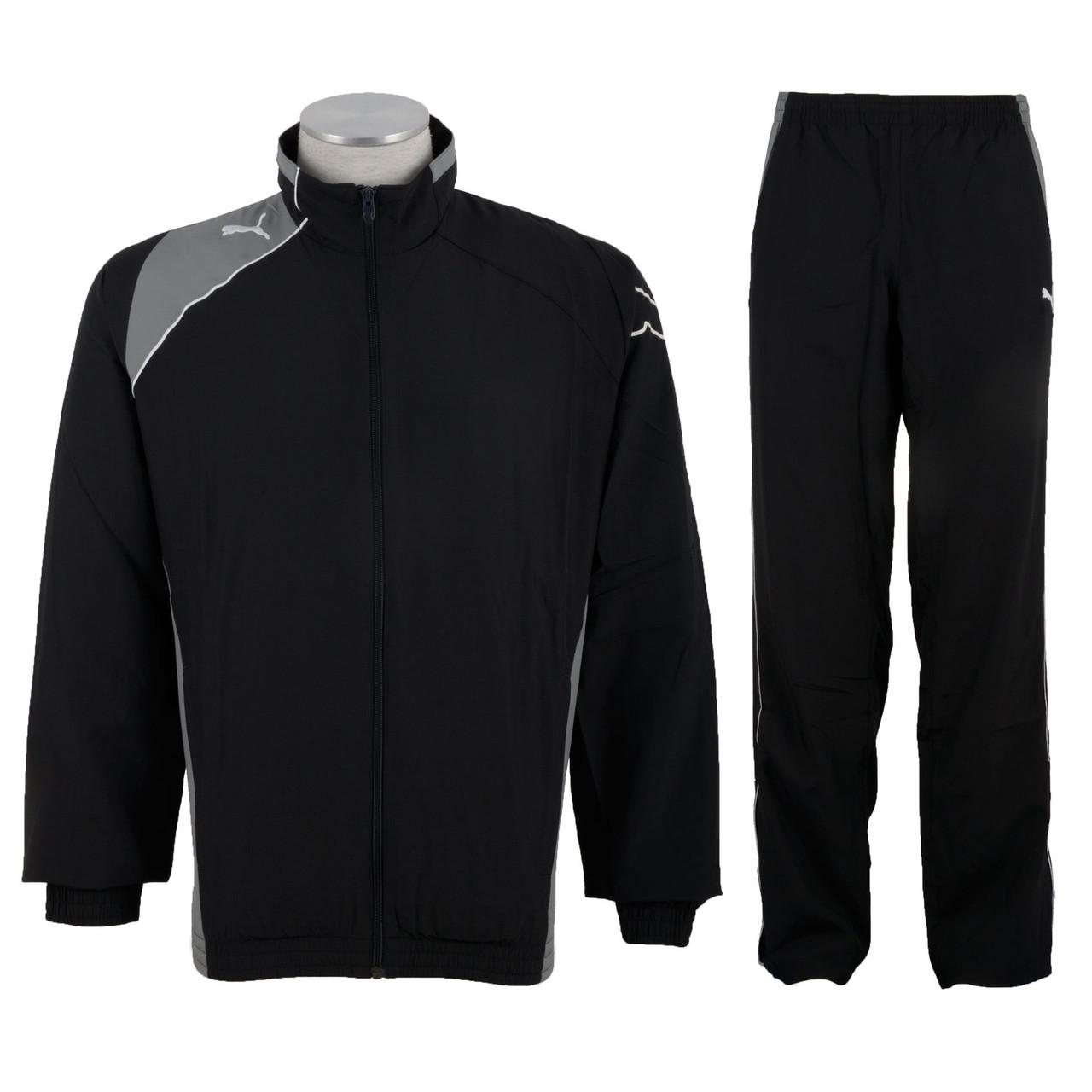 Костюм спортивный мужской puma United Woven Suit 651447 03 (черный, полиэстер, для тренировок, логотип пума)