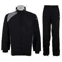 Костюм спортивный мужской puma United Woven Suit 651447 03 (черный, полиэстер, для тренировок, логотип пума), фото 1
