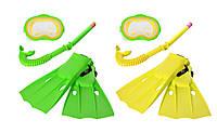Набор для плавания intex 55955 размер М маска трубка и ласты