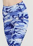 """Лосины для танцев с высокой талией """"Камуфляж"""" (синий, голубой), фото 7"""