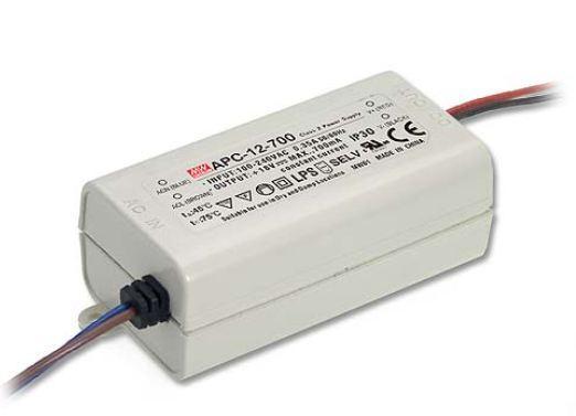 Источник питания 700ма 12вт 9-18в APC-12-700 MEAN WELL драйвер тока светодиодов 9498