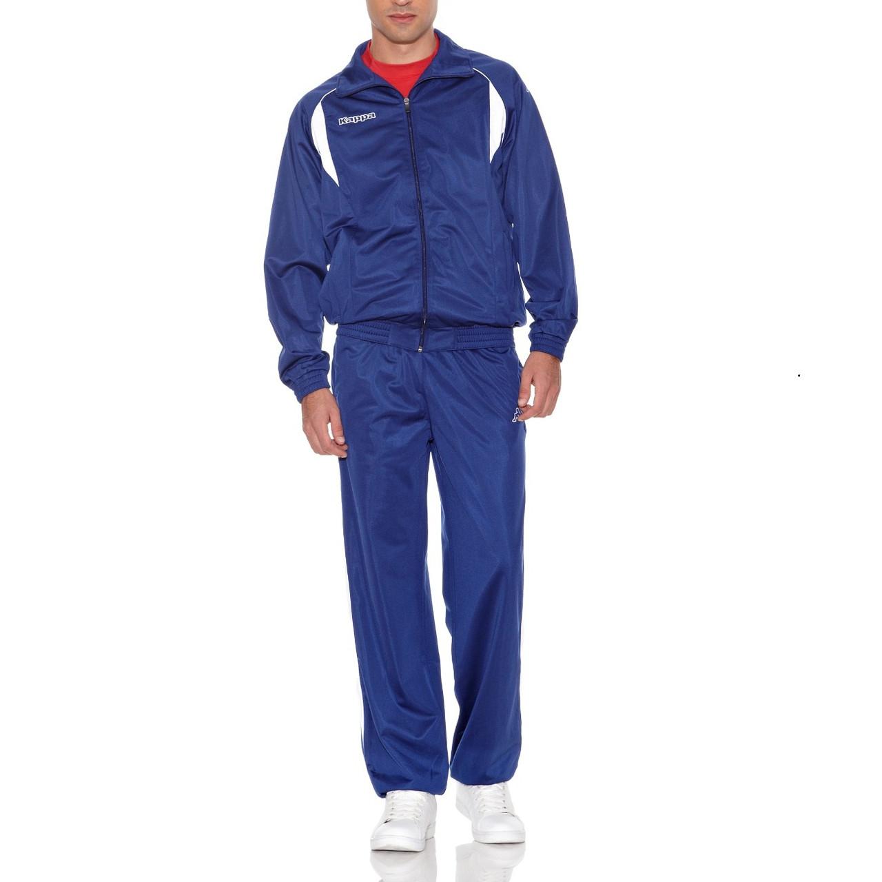 7f24d68a7337 Купить Костюм спортивный мужской Kappa Old School 3001A16 902 (синий,  эластик, для тренировок, ...