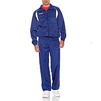 Костюм спортивный мужской Kappa Old School 3001A16 902 (синий, эластик, для тренировок, надпись каппа)
