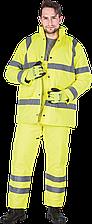 Зимний комплект U-VIS Y сигнальный рабочий желтый REIS Польша (костюм утепленный куртка и брюки рабочии)