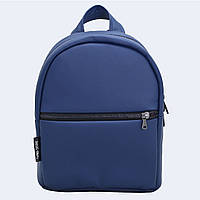 Синій шкіраный рюкзак small