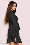 Однотонное платье-рубашка черного цвета, фото 2