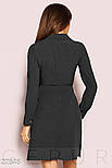Однотонное платье-рубашка черного цвета, фото 3