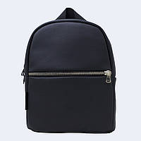 Чорний шкіраный рюкзак small