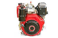 Двигатель дизельный Weima WM186FBE (вал под шлицы) 9.5 л.с., эл.старт. (для мотоблока WM1100ВЕ), фото 1
