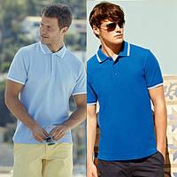 Мужская футболка рубашка поло с полосками 63-032-0, фото 1