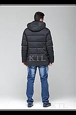 Батальная мужская зимняя куртка с меховой опушкой CW18-17MD036CIB (синяя), фото 3