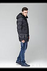Батальная мужская зимняя куртка с меховой опушкой CW18-17MD036CIB (синяя), фото 2