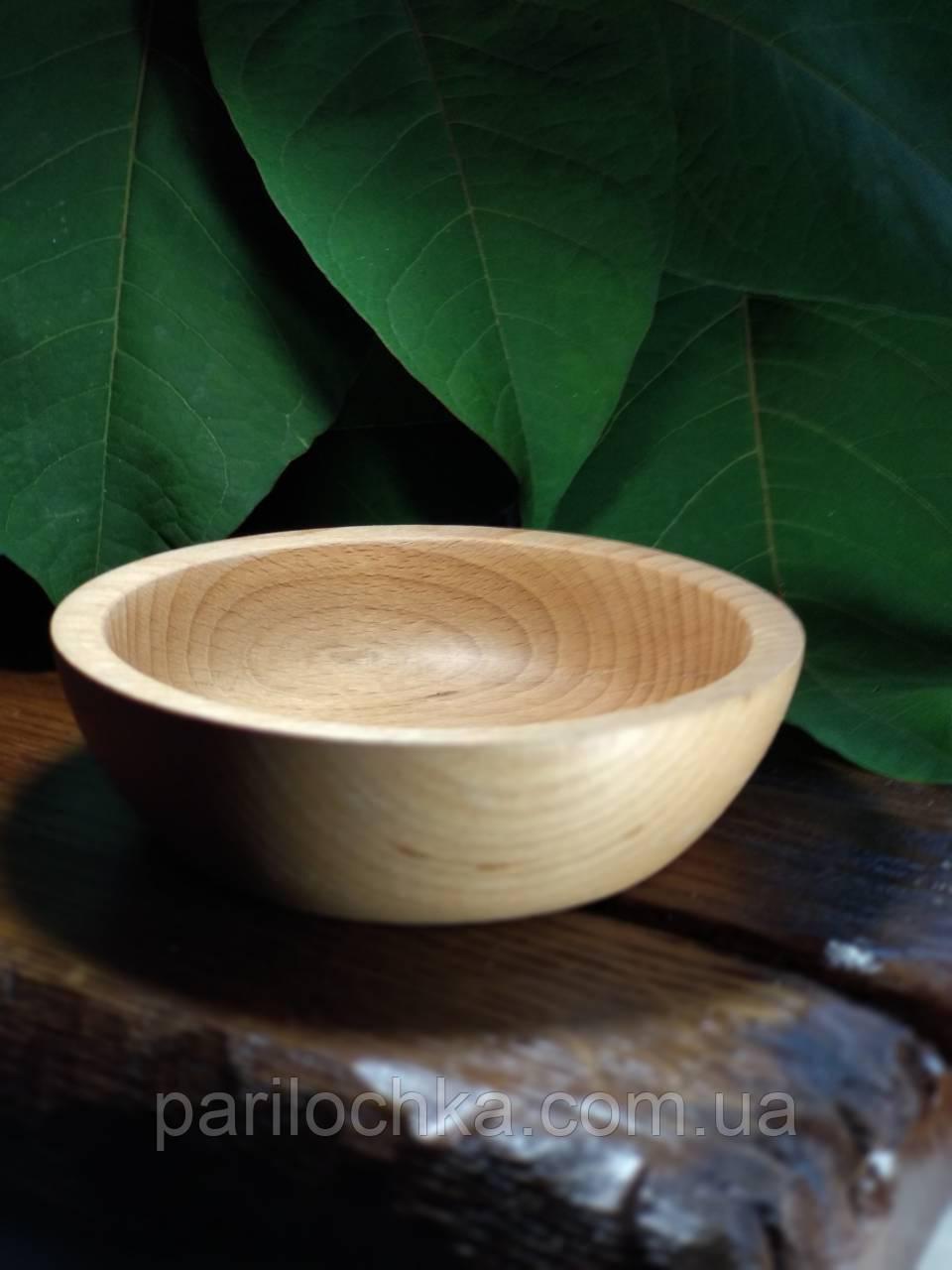 Глубокие деревянные тарелки
