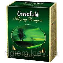 "Чай зелений FLYING DRAGON 2гх100шт. ""Greenfield"" , пакет"