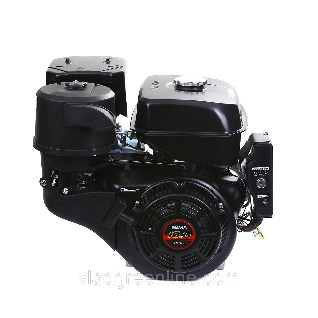 Двигатель бензиновый Weima WM190FЕ-S New (шпонка, 16 л.с., электростартер)