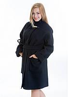 Женское пальто свободного кроя из мягкого кашемира (Размеры: 46-54)