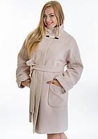Женское зимнее пальто свободного кроя из мягкого кашемира (Размеры: 46-54)