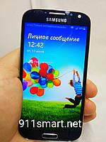Дисплей, модуль, экран Samsung Galaxy S4 I9505, i9500 синий с рамкой