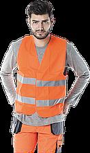 Жилет KOS-5 P сигнальный светоотражающий рабочий оранжевый REIS (RAW-POL) Польша