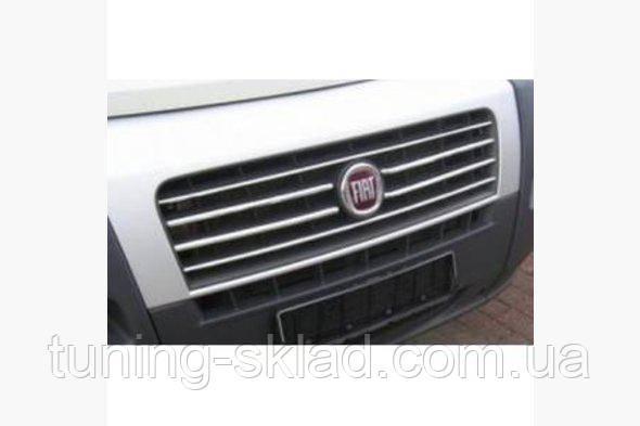 Хром  полоски для радиаторной решетки  Fiat Ducato 2006-2014+   (Фиат)