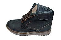 Ботинки мужские зимние на меху подростковые Multi Shoes Born Black / черные