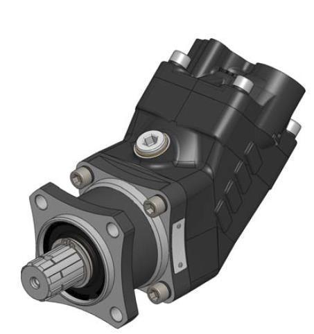 Насос аксиально-поршневой ISO (47 куб см) правый HDS-47 OMFB Италия с наклонным блоком 10801504733