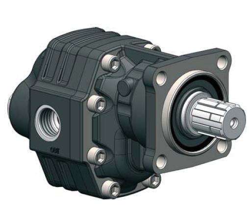 Насос шестеренчатый ISO (27 куб см) левый NPH-27 SX OMFB Италия 10501110280