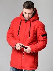 Мужской зимний пуховик CW18-17MD041DN Clasna на натуральном пуху - красный (#102), фото 3
