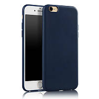 Чехол Apple Iphone 6 Plus / 6S Plus силикон soft touch бампер темно-синий