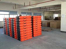 Массажный стол PBT XL 3 сегментный, черно-оранжевый,алюминиевый, фото 3