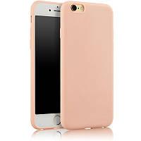 Чехол Apple Iphone 6 Plus / 6S Plus силикон soft touch бампер светло-розовый