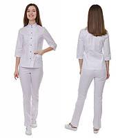 Медицинский женский костюм Амстердам белый d9bc710643095