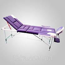 Массажный стол PBT XL 3 сегментный, черно-оранжевый,алюминиевый, фото 2