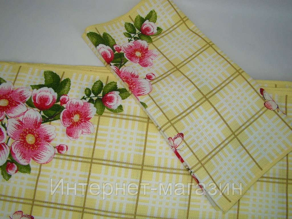 Кухонное вафельное полотенце (35х76см) код 0063