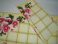 Кухонное вафельное полотенце (35х76см) код 0063, фото 1