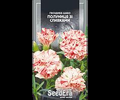 Семена гвоздики Шабо махровая клубника со сливками двухлетняя 0,2г SeedEra