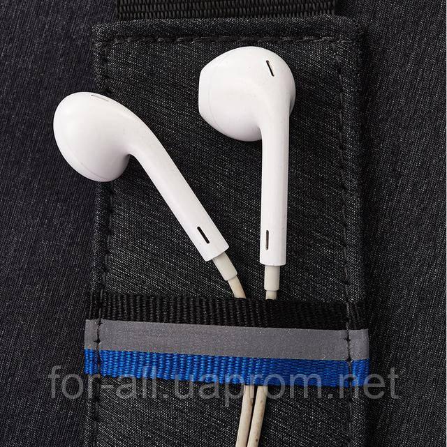 Фото Cветоотражающая zip полоска CrossBody для ношения очков или наушников для смартфона