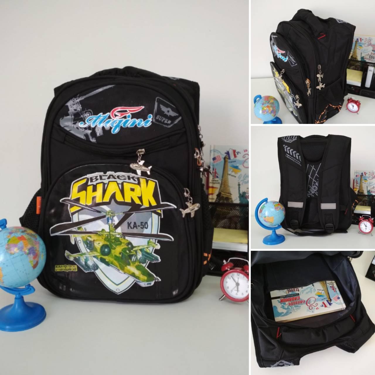 01464ca7a7ef Школьный рюкзак для мальчика с ортопедической спинкой Migini принт Военный  вертолет 40*30*20 ...