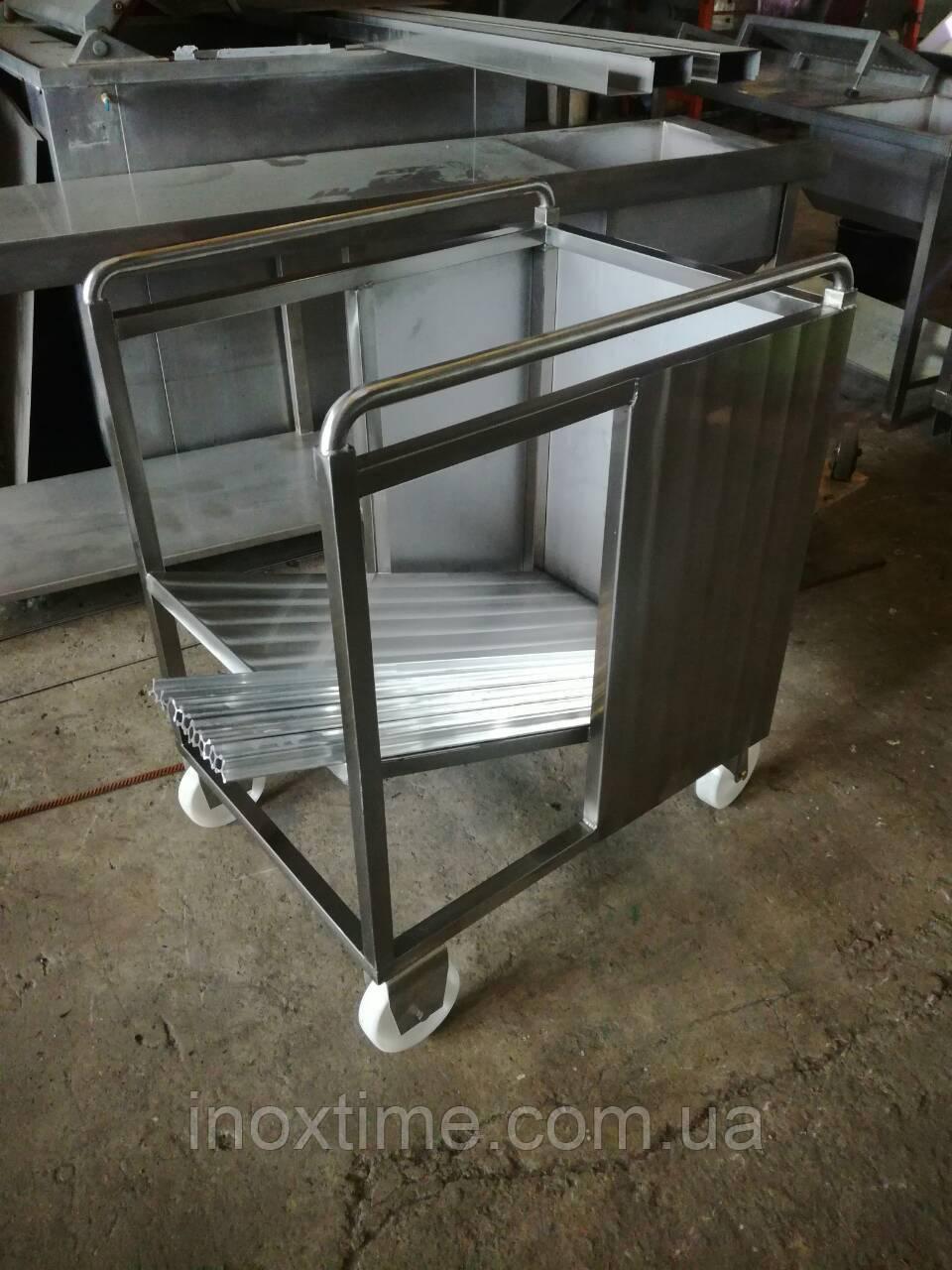 Тележка транспортировочная для коптильных палок (вешал) вместимостью  до 800 шт.