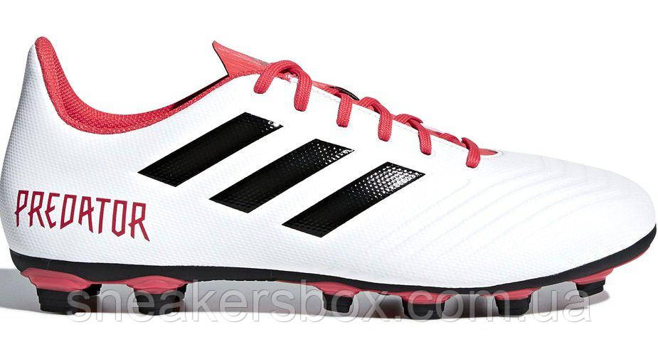 fb811421328b Футбольные Бутсы Adidas Predator 18.4 Flexible Ground Boots White ...
