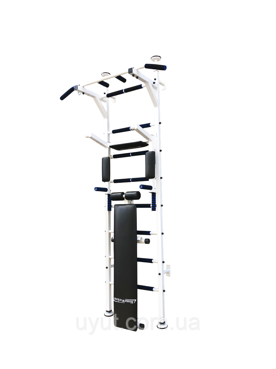 Шведская стенка усиленная «Fitness Pro Premium New ТМ Уют Спорт» (white)