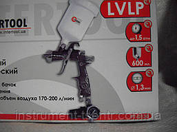 Краскопульт LVLP 1.3 мм Intertool PT-0130, фото 3